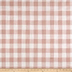 Premier Prints Buffalo Plaid Slub Canvas Blush Fabric