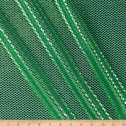 Faux Sequin Shiny Confetti Dot Knit Green Fabric