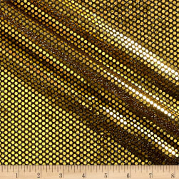 Iridescent Sequin Dot Mesh Gold / Black Fabric