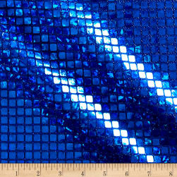Faux Sequin Hologram Square Mesh Royal Blue