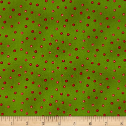 Maywood Studio Poinsettia & Pine Holly Berry Dots