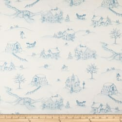 Maywood Studio Christmas Joys Flannel Winter Landscape Blue