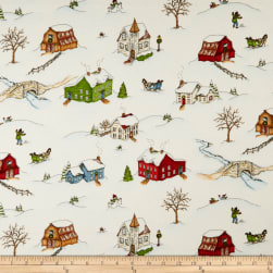 Maywood Studio Christmas Joys Flannel Winter Landscape Multi
