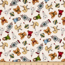 Maywood Studio Christmas Joys Flannel Toys Natural Fabric