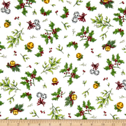 Maywood Studio Christmas Joys Flannel Holly & Mistletoe