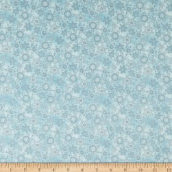 Maywood Studio Christmas Joys Flannel Miniature Snowflakes Blue