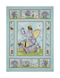 35.5'' x 44'' Susybee Knightley Panel Aqua Fabric
