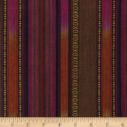 Arrowhead Stripe Brown/Wine Fabric