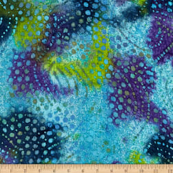 Hudson Bay Challis Floral Blue/Green/Purple Batik
