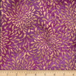 Indian Batik Tear Drop Gold Print Batik Purple
