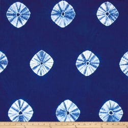 Wind Cave Tie Dye Circles Navy/White Fabric