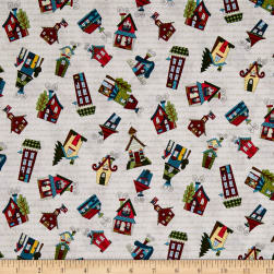 Covered In Truth Tossed Houses Cream Fabric