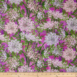 Botanical Blooms Queen Anne's Lace Purple Fabric