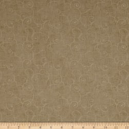 Whimsy Soothing Swirl Taupe Fabric