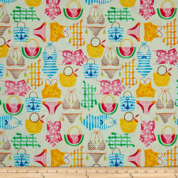 Just Beachy Bathing Suits & Bags Cream Fabric
