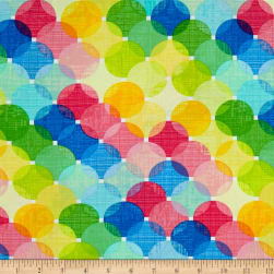 Just Beachy Large Layered Dots Multi Fabric
