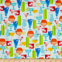 Just Beachy Tropical Drinks White/Multi Fabric