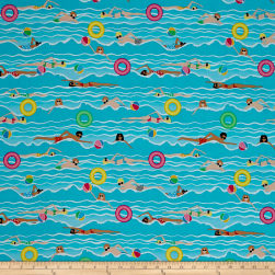Just Beachy Ocean Swimmers Turquoise Fabric