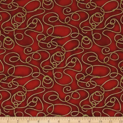 Rodeo Round Up Lasso Rope Red Fabric
