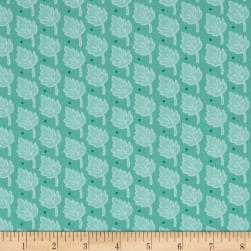 Bungle Jungle Leaf Print Blue Fabric