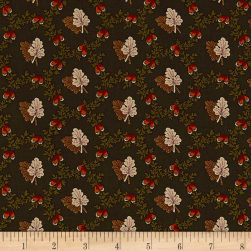 Pumpkin Farm Oak Leaf Toss Forest Fabric