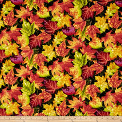 Autumn Album Tossed Leaves Forest Fabric