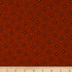 Kim Diehl Farmstead Geometric Petals Ruby Fabric