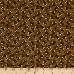 Kim Diehl Farmstead Tossed Floral Hickory Fabric