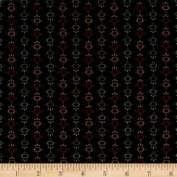 Kim Diehl Farmstead Hexi Stripe Ebony Fabric