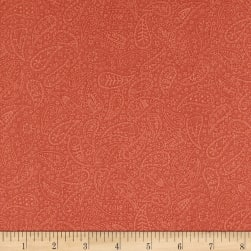 Home For Christmas Paisley Light Red Fabric