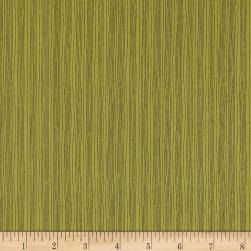 Home For Christmas Wavy Pinstripe Green Fabric