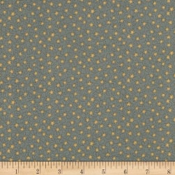 Home For Christmas Swirly Star Dark Blue Fabric