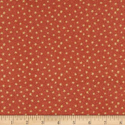 Home For Christmas Swirly Star Red Fabric