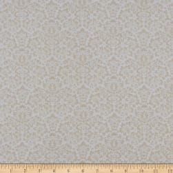 Gentle Garden Flannel Monotone Damask Cream Fabric