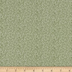 Gentle Garden Flannel Tender Vines Sage Fabric