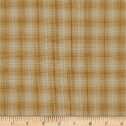 Believe Yarn Dye Mini Glen Plaid Gold Fabric