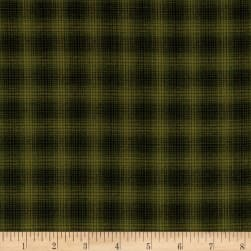 Believe Yarn Dye Mini Glen Plaid Green Fabric