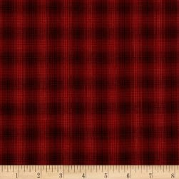 Believe Yarn Dye Mini Glen Plaid Red Fabric