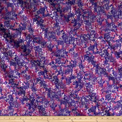 Pearl Luxe Pearl Flower Metallic Purple Fabric