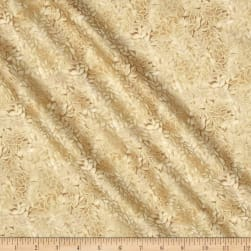 Honeystone Hill Leaf Allover Metallic Straw Fabric