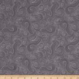 Just Color Swirl Basic Charcoal Fabric
