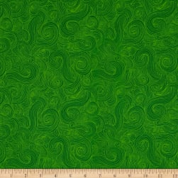 Just Color Swirl Basic Green Fabric