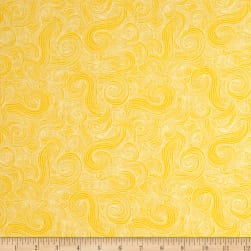 Just Color Swirl Basic Sunshine Fabric