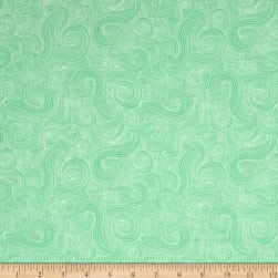 Just Color Swirl Basic Mint Fabric
