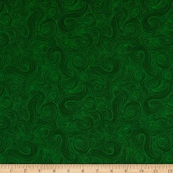 Just Color Swirl Basic Forest Fabric