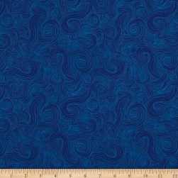 Just Color Swirl Basic Navy Fabric