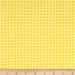 Yarn Dyed Flannel Check Yellow Fabric