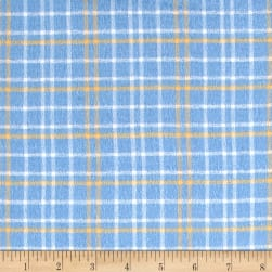 Yarn Dyed Flannel Plaid Blue & Yellow Fabric