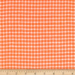 Yarn Dyed Flannel Check Orange Fabric