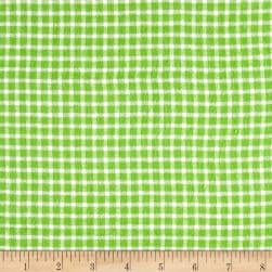 Yarn Dyed Flannel Check Green Fabric